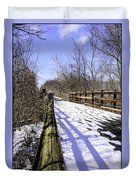 Winter On Macomb Orchard Trail Duvet Cover