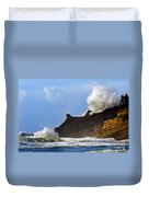 Winter Storm At Cape Kiwanda - Oregon Duvet Cover