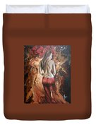 Woman's Portrait Duvet Cover