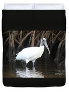 Wood Stork In The Swamp Duvet Cover