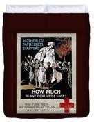 World War I: Red Cross Duvet Cover