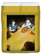 Wwii Workers, 1942 Duvet Cover