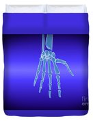 X-ray View Of Human Hand Duvet Cover