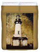 Yaquina Head Lighthouse - Oregon Duvet Cover