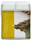 Yellow And Green Lines To The Roofs Duvet Cover