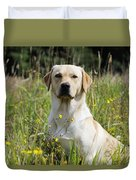 Yellow Labrador Retriever Duvet Cover