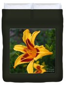Yellow Tiger Lily Duvet Cover