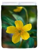 Yellow Wood Anemone Duvet Cover