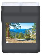 Yosemite Valley Mountainside From Sentinel Dome Trail In Yosemite Np-ca Duvet Cover