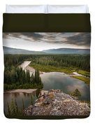 Yukon Canada Taiga Wilderness And Mcquesten River Duvet Cover