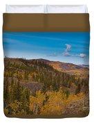 Yukon Gold - Fall In Yukon Territory Canada Duvet Cover