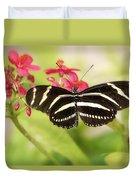 Zebra Longwing Butterfly Duvet Cover