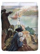 Battle Of Bunker Hill, 1775 Duvet Cover