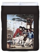 Boston Tea Party, 1773 Duvet Cover