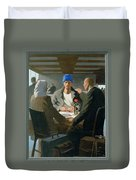 20. Jesus Appears At Emmaus / From The Passion Of Christ - A Gay Vision Duvet Cover