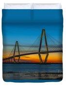 Arthur Ravenel Jr. Bridge At Sunset Duvet Cover