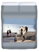 The Shoot On Santorini In Greece Duvet Cover