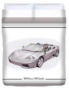 Ferrari 360 Modena Spyder Duvet Cover