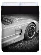 2002 Chevrolet Corvette Z06 Bw Duvet Cover