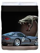 2002 Dodge Viper Duvet Cover