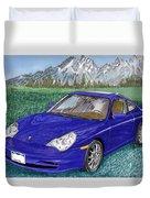 2002 Porsche 996 Duvet Cover
