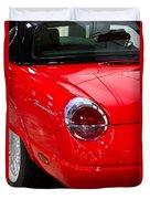2002 Red Ford Thunderbird-rear Left Duvet Cover