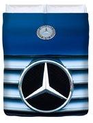 2003 Cl Mercedes Hood Ornament And Emblem Duvet Cover