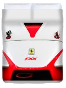 2005 Ferrari Fxx Evoluzione Hood Emblem Duvet Cover