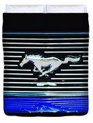 2007 Ford Mustang Grille Emblem Duvet Cover