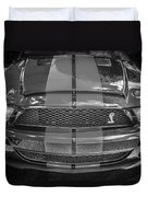2007 Ford Shelby Gt 500 Mustang Bw Duvet Cover