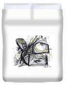 2010 Abstract Drawing 28 Duvet Cover