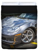2010 Chevy Corvette Grand Sport Hdr Duvet Cover