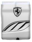 2010 Ferrari California Side Emblem Duvet Cover