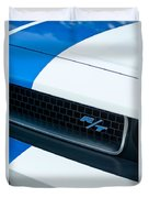 2011 Dodge Challenger Rt Grille Emblem Duvet Cover by Jill Reger
