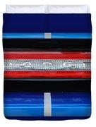 2011 Dodge Challenger Rt Hemi Taillight Emblem Duvet Cover