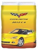 2012 C 6 Corvette Duvet Cover