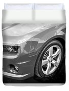2012 Chevy Camaro Ss Bw Duvet Cover