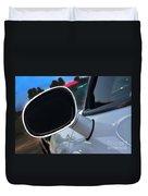 2012 Dodge Challenger White Rear View Mirror - 6023 Duvet Cover