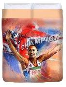 2012 Heptathlon Olympics Gold Medal Jessica Ennis  Duvet Cover