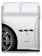 2012 Maserati Gran Turismo S B And W Duvet Cover