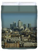 2013 Docklands London Skyline Duvet Cover