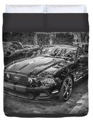 2013 Ford Shelby Mustang Gt 5.0 Convertible Bw  Duvet Cover