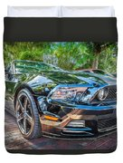 2013 Ford Shelby Mustang Gt 5.0 Convertible Painted   Duvet Cover