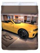 2014 Camaro Convertible Duvet Cover