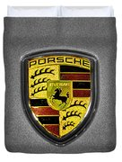 2014 Porsche Cayman S  Logo Duvet Cover