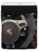 2015 Porche Boxster Gts Wheel Duvet Cover