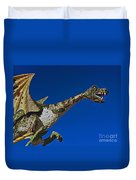 2015 Rose Parade Float Showing A Dragon 15rp039 Duvet Cover