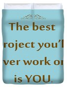208- The Best Project You'll Ever Work On Is You Duvet Cover
