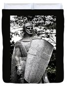 20th Century Gothic Revival Knight Statue Chicago Usa Duvet Cover