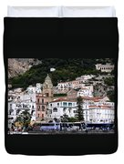 Views From The Amalfi Coast In Italy Duvet Cover